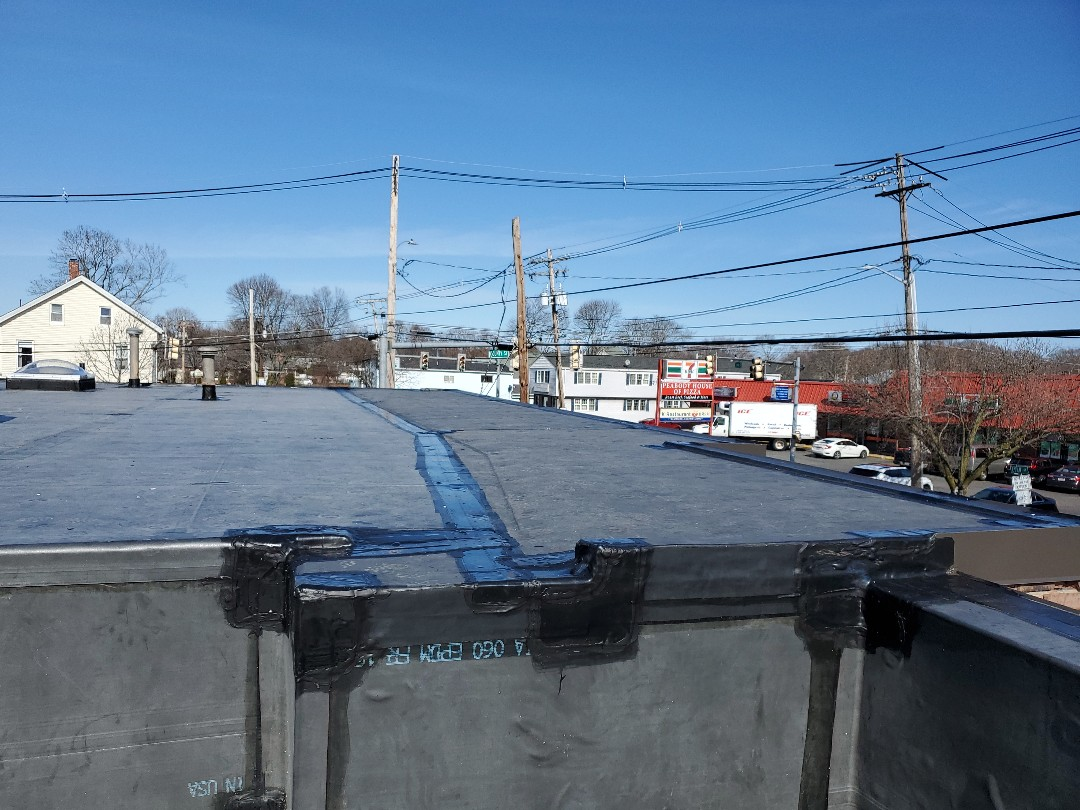 Peabody, MA - installed tapered system, on carlisle epdm roof