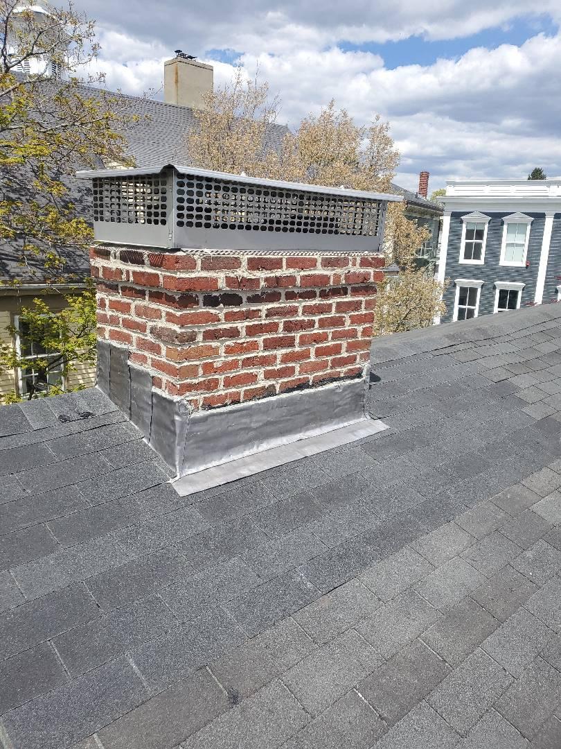 Marblehead, MA - New lead around chimney