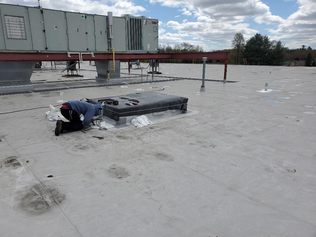 Wilmington, MA - installing durolast pitch pocket