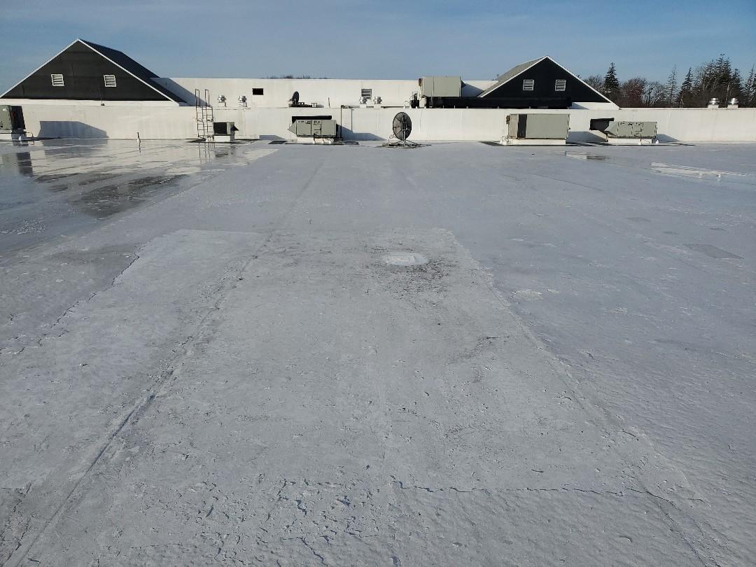 Newburyport, MA - Carlisle TPO  patched holes on frozen roof