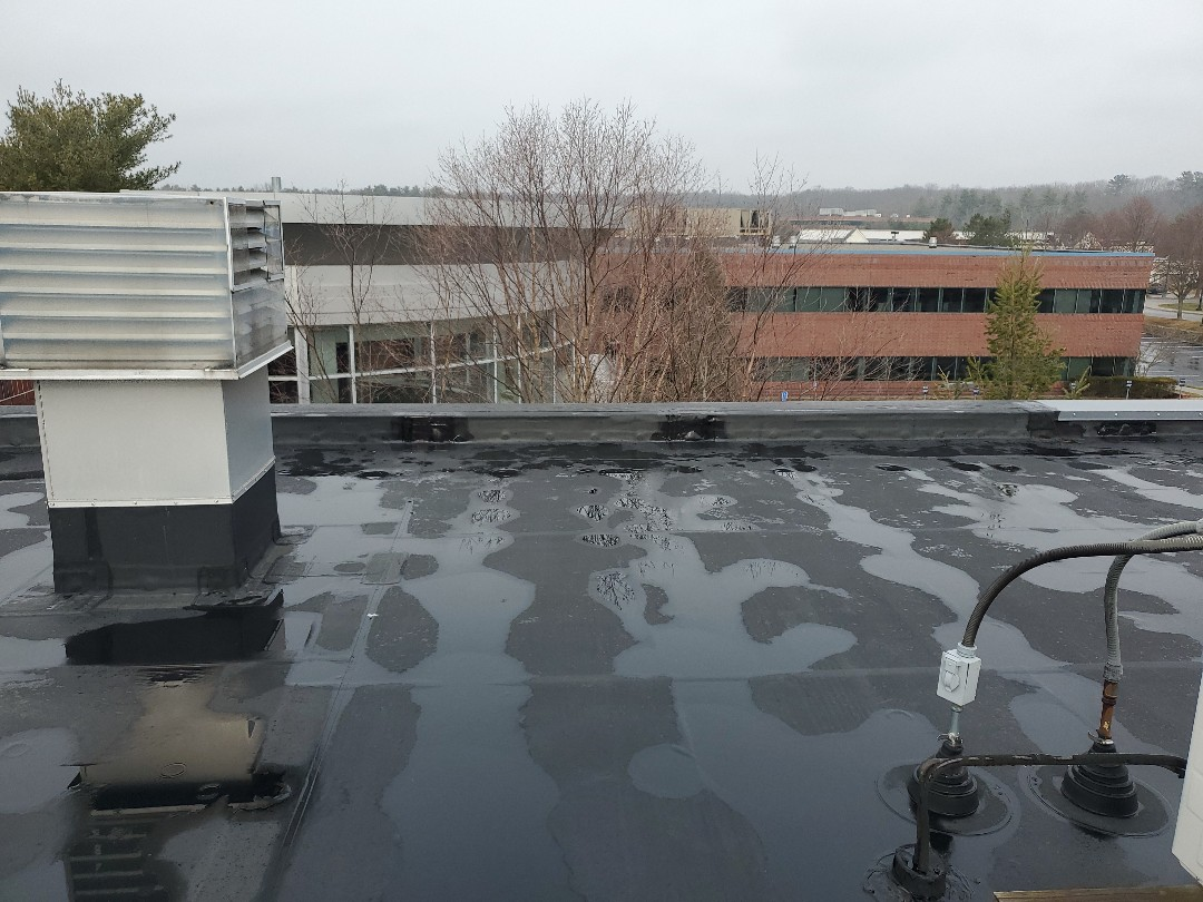 Mansfield, MA - Firestone epdm  preventative maintenance  and roof cleaning