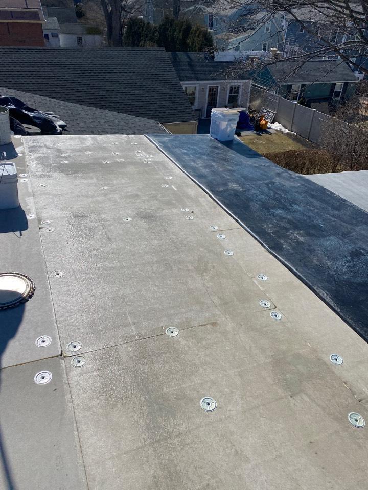 Marblehead, MA - Installing EPDM roof