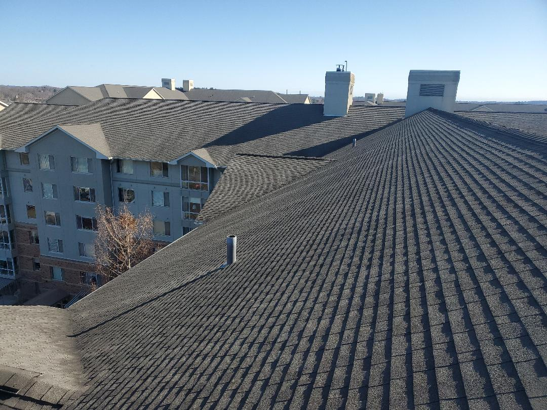 Peabody, MA - GAF Timberline weathered wood  repaired wind damaged shingles