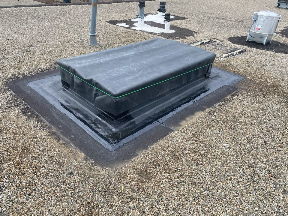 Gloucester, MA - Installed curb on a tar and gravel roofing system
