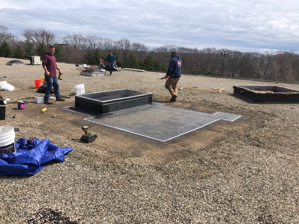 Gloucester, MA - Installing a curb Taryn gravel roof