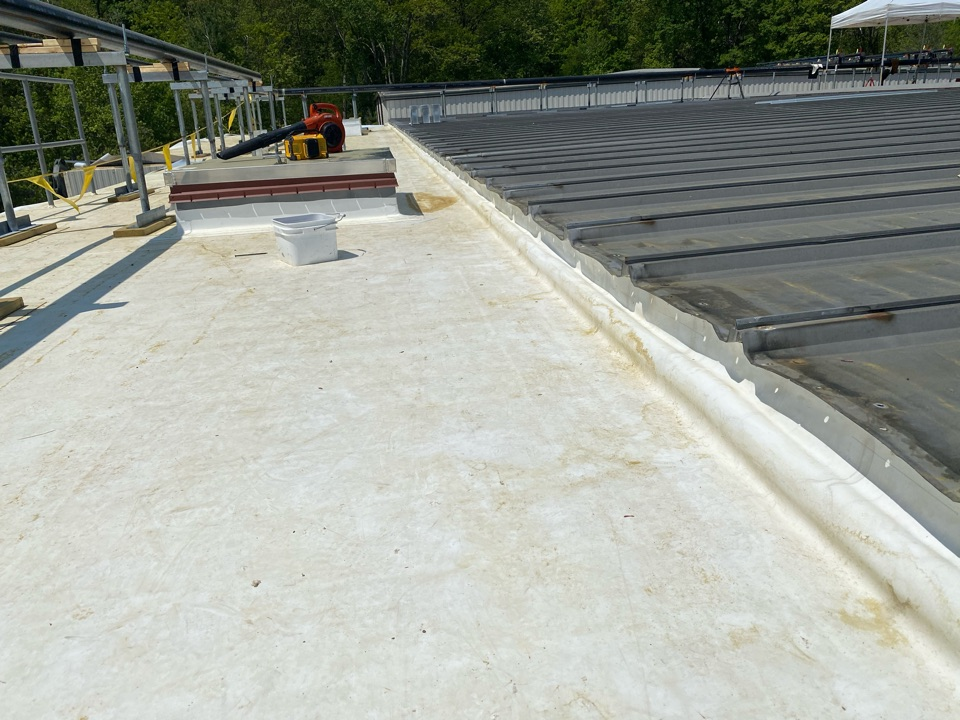 North Andover, MA - Wall detailing on a Firestone TPO roofing system