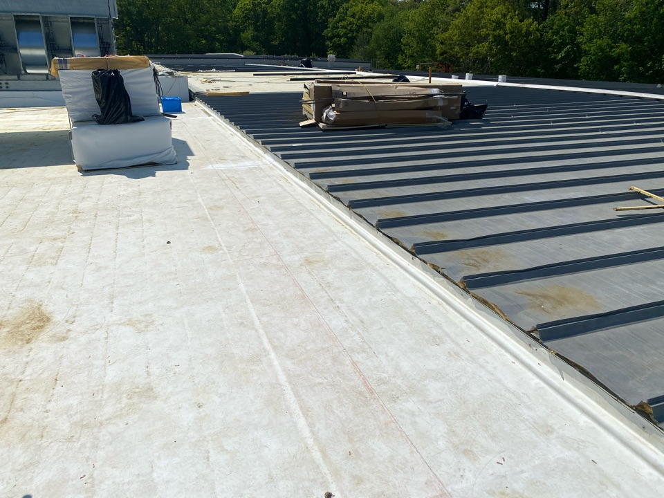 North Andover, MA - Wall detailing on a Firestone roofing system