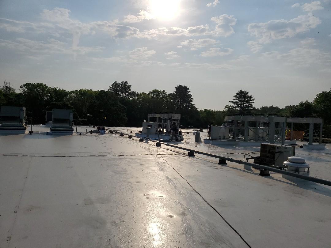 Foxborough, MA - New Roof on Comcast