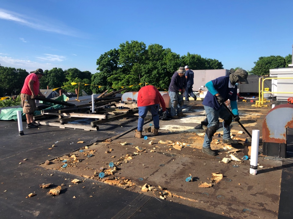 Newburyport, MA - Roof curb removal and new installation on Firestone roof system