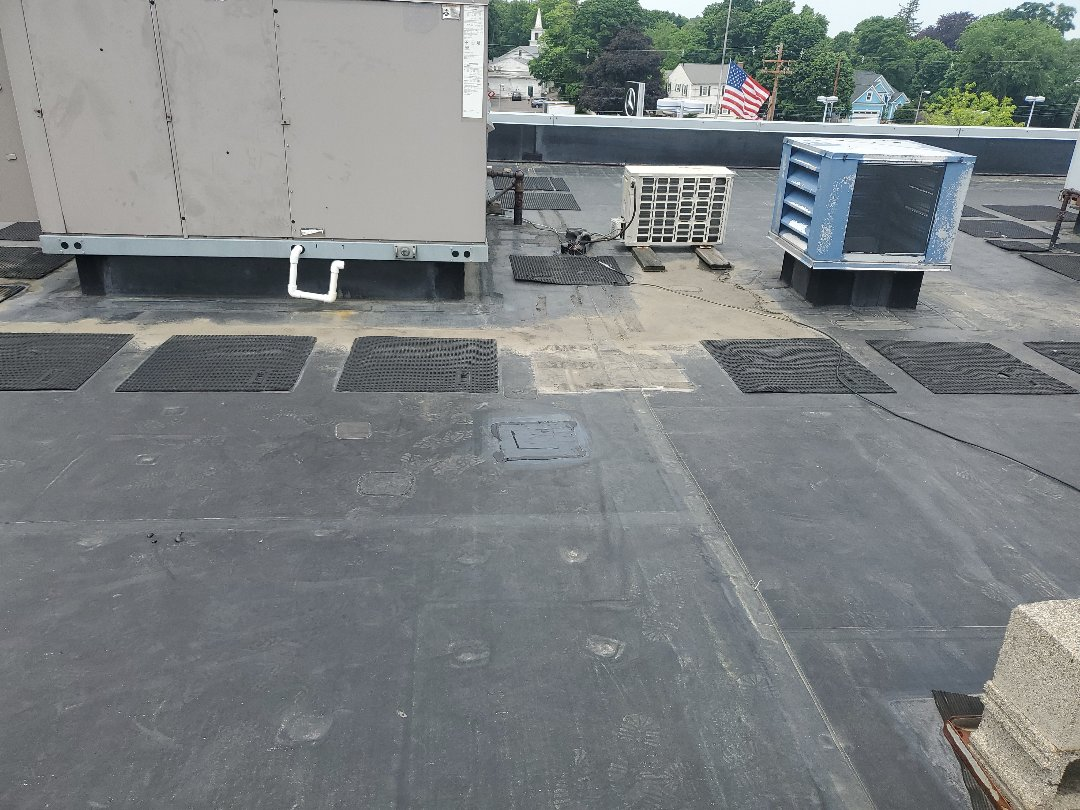 Lynnfield, MA - Carlisle EPDM repaired holed in membrane with double patch
