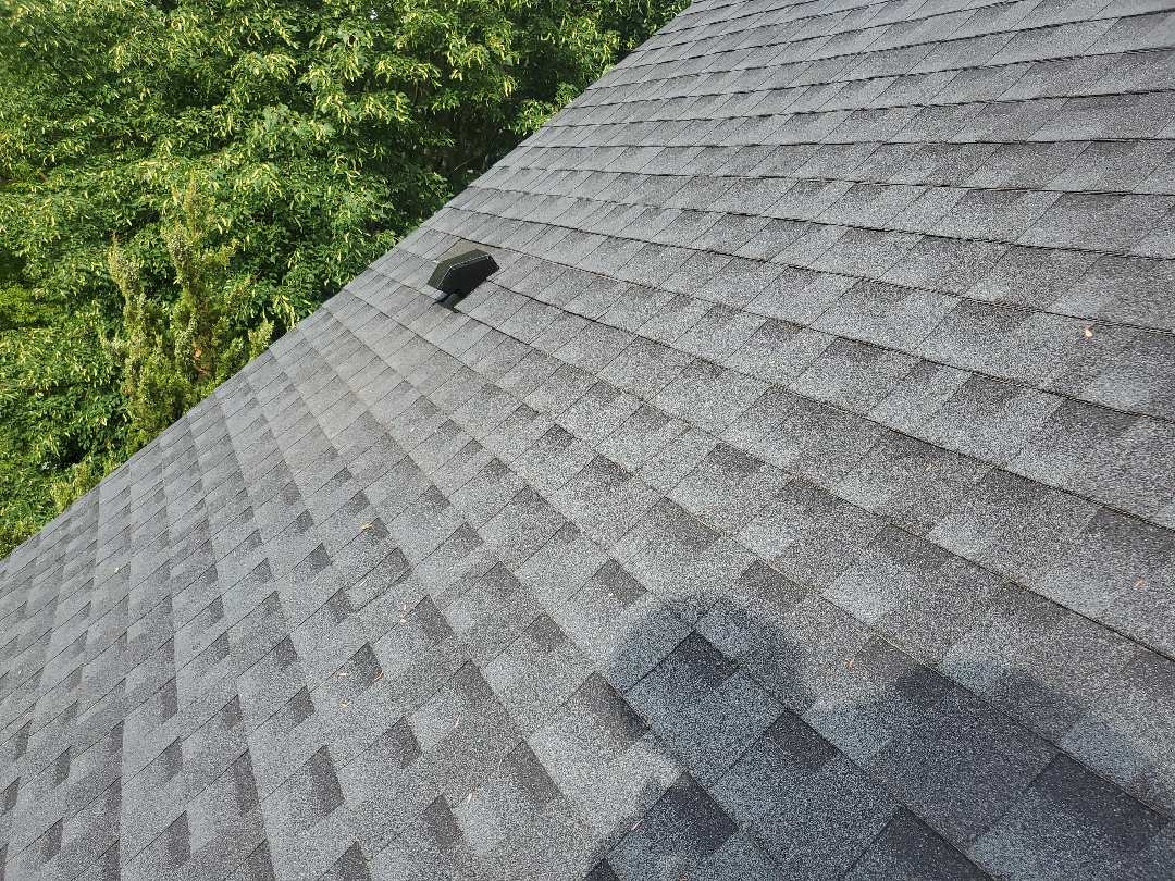 North Reading, MA - installed dryer vent on gaf Timberline charcoal