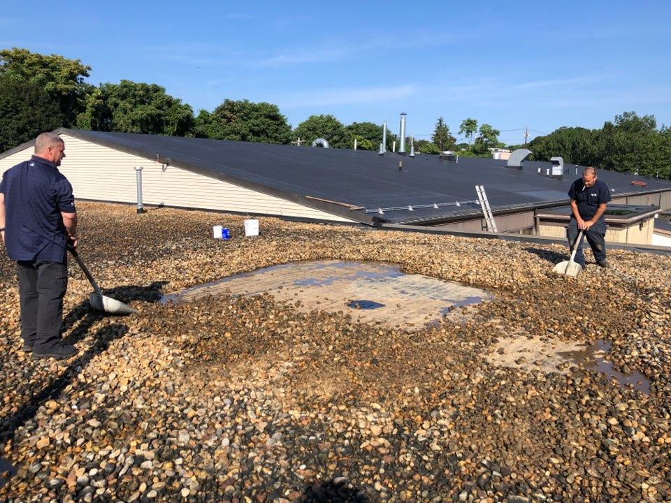 Woburn, MA - Ballast roof leak repairs