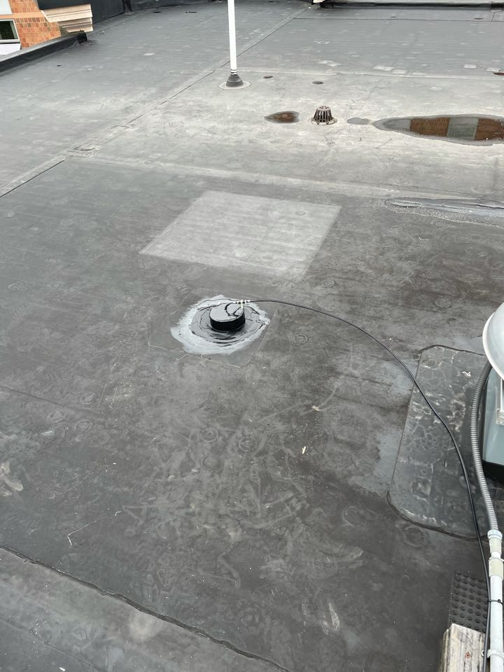 Boston, MA - Cleaned and Installed 1 pitch pocket on a epdm fully adhered roofing system