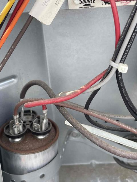 Philadelphia, PA - G-8one building in Fishtown Philadelphia 19122 Diagnosed system and found blown out capacitor unit also low on charge.  Fixes Replaced capacitor Charge to manufacture specifications  Repair completed Recharge system to specifications Add 2.5 lbs of R410A refrigerant to system Replaced capacitor