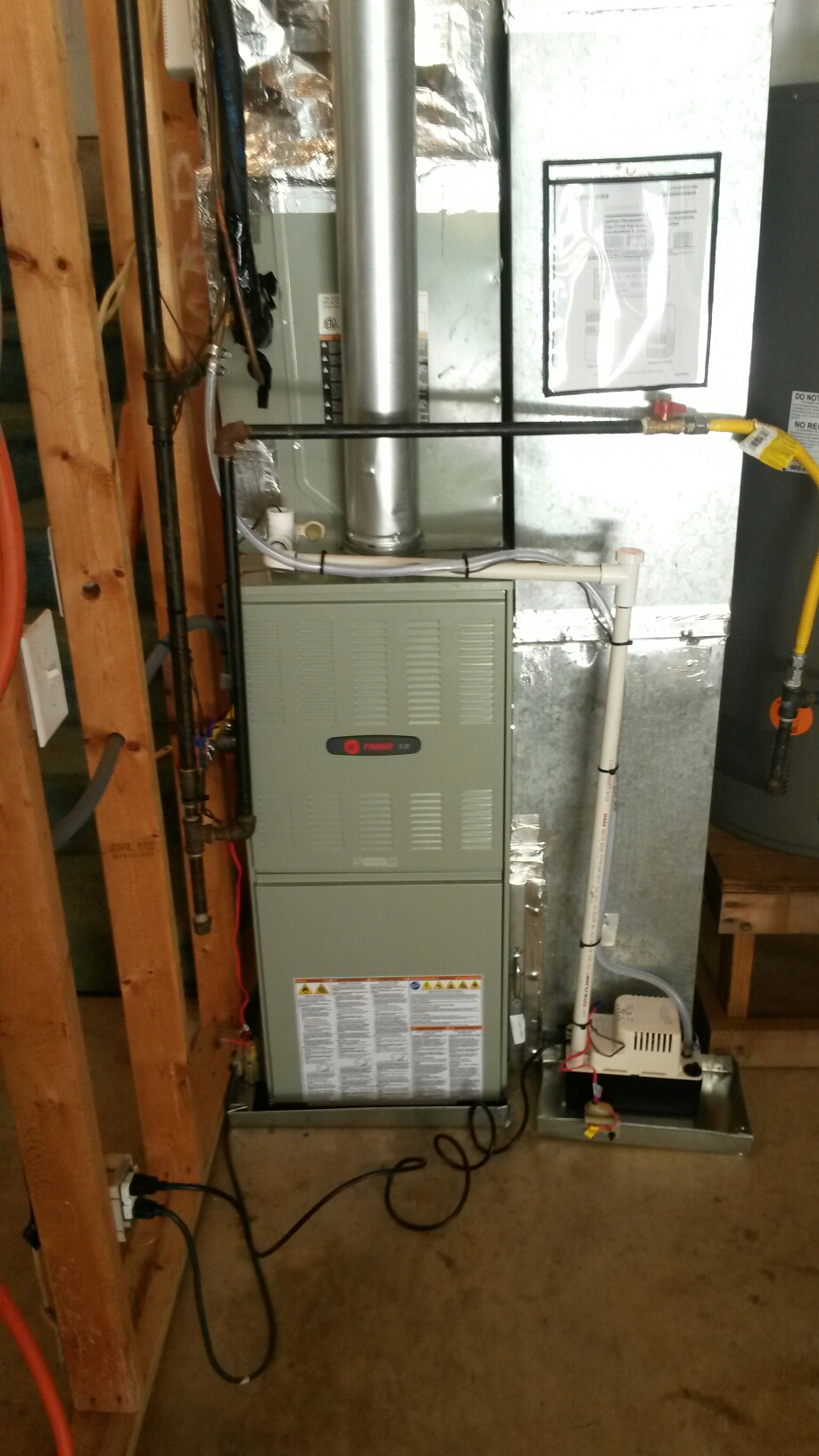 Holly Springs, GA - New install Trane furnace
