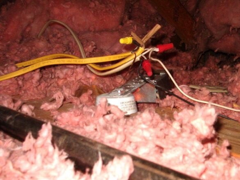 Conyers, GA - Electrical splices in attic