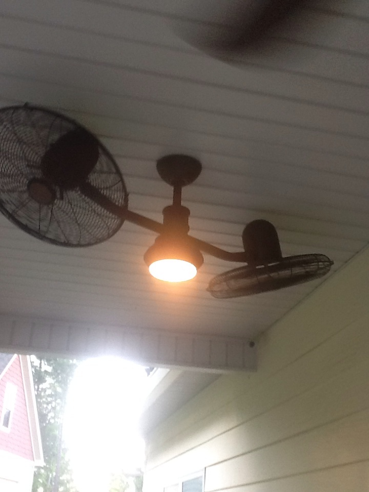 Newnan, GA - Electrical repair- installed 2 outdoor ceiling fans