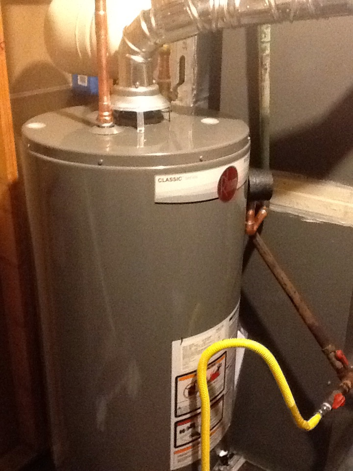 Stockbridge, GA - Plumbing repair, install RHEEM 40 gallon gas water heater