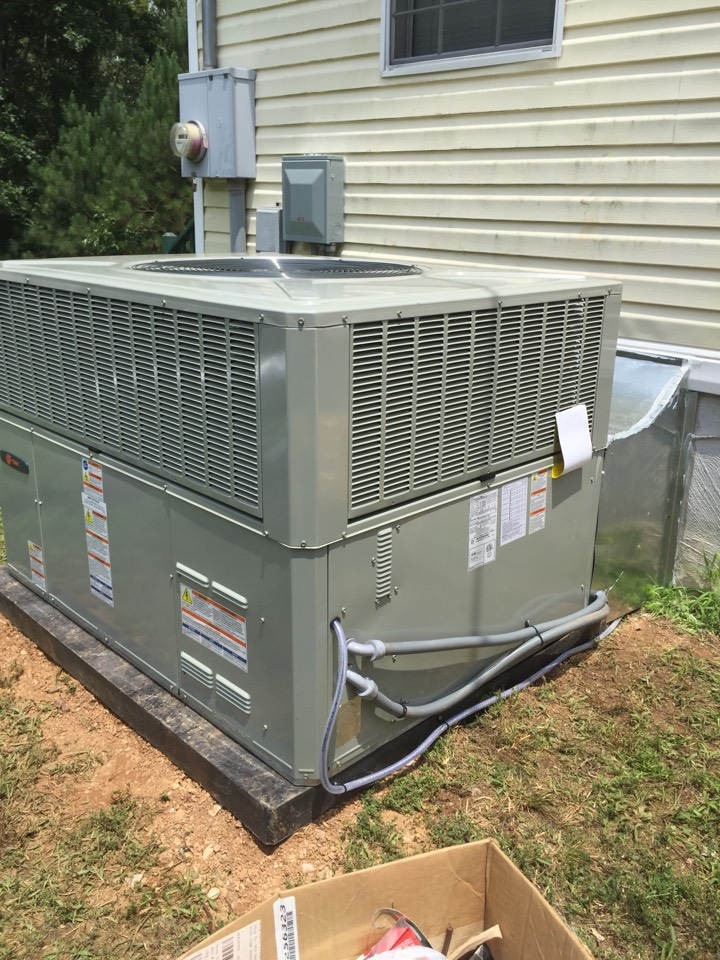 Ball Ground, GA - Day 2/2: install new Trane package unit