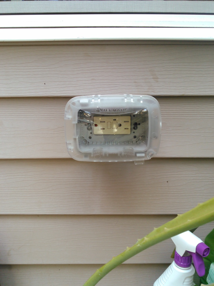 Newnan, GA - Electrical repair add exterior GFCI outlet with bubble cover