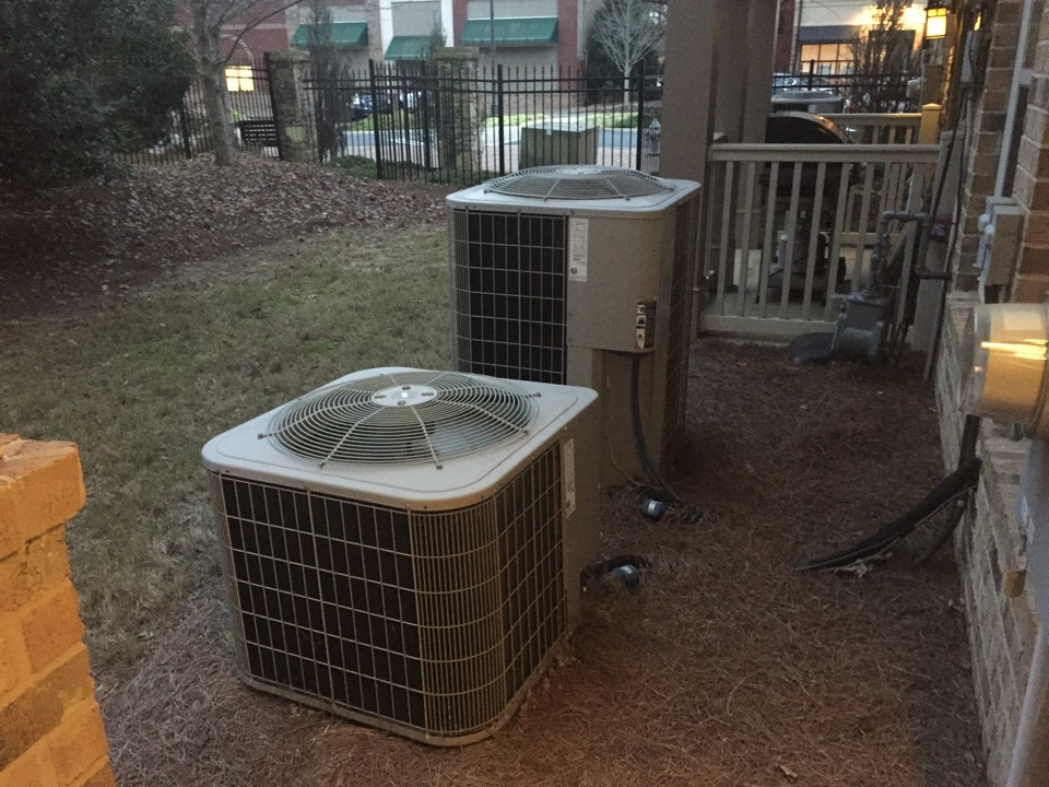 Johns Creek, GA - Annual service on two Carrier heat-pumps