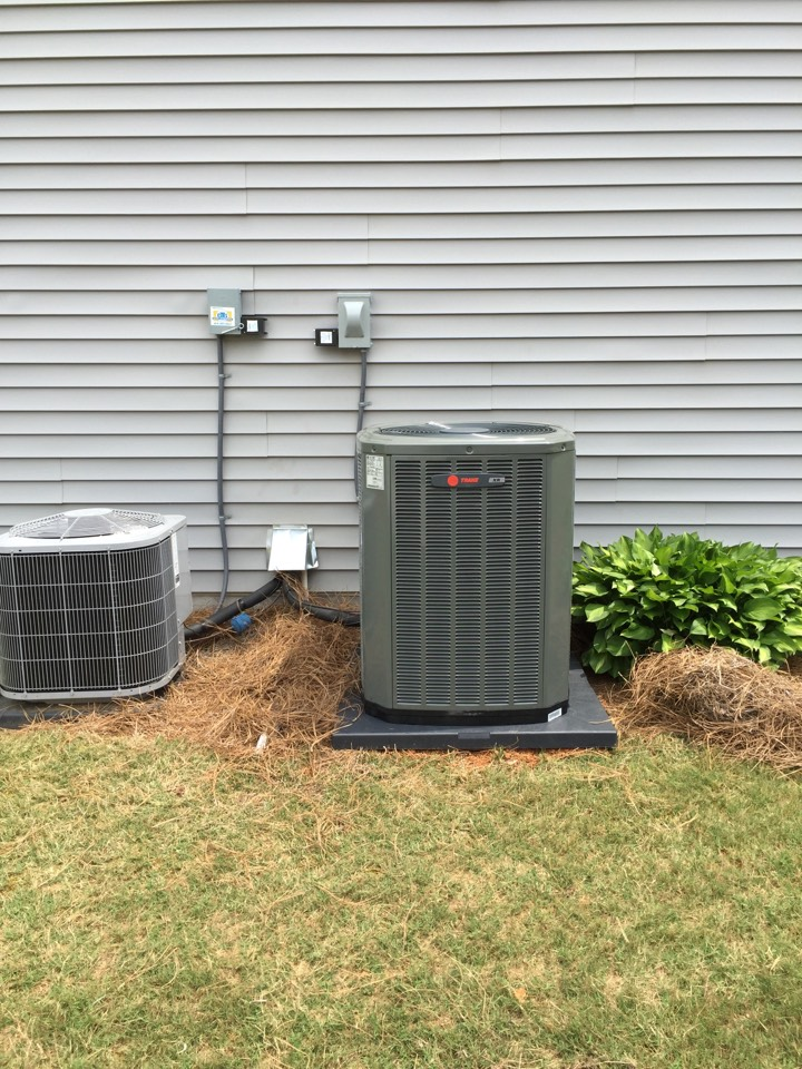 Austell, GA - Install Trane furnace, air conditioner and evap coil