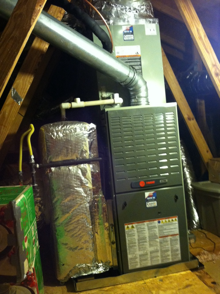 Johns Creek, GA - Install of a new Trane 3-ton air conditioning system and supply plenum.