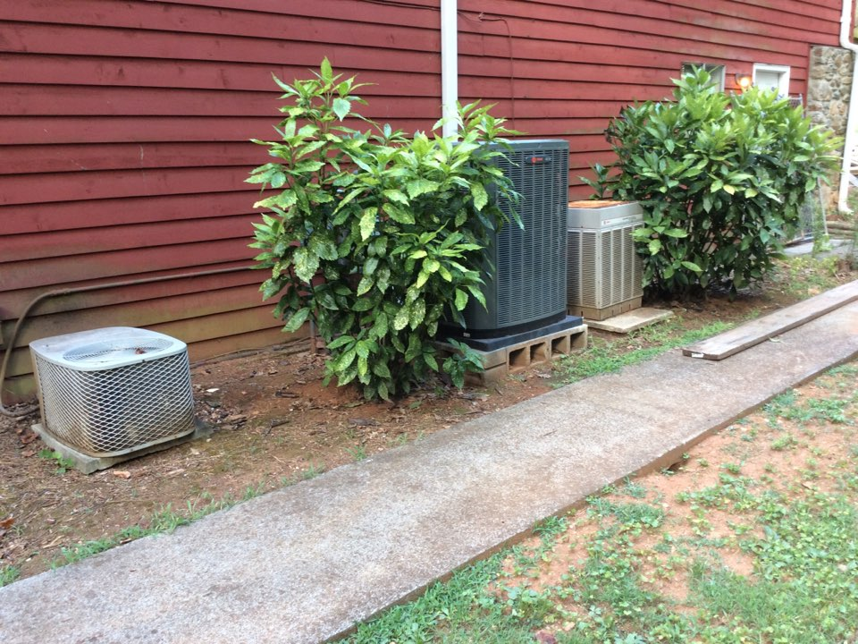 Stone Mountain, GA - Service on 2 air conditioning systems.