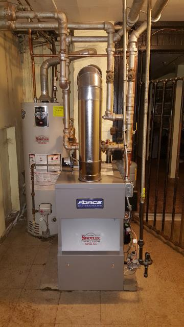 Berwyn, IL - Recently completed this good looking installation of a new FERGUSON FORCE 05 cast iron boiler for a nice lady in Berwyn.  While performing the replacement the she allowed us to improve the system by adding a CALEFFI DIRTMAG.  The DIRTMAG is a magnetic dirt separator designed to remove, trap and contain magnetic and non-magnetic contaminates circulating with the system water.  This device will help protect all of the other new components we installed with the boiler.  A smart choice by this customer!