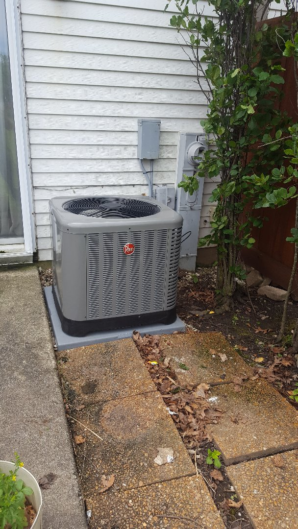 Installed a new rheem a.c. system for a customer in westmont