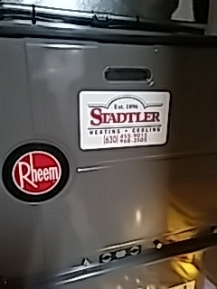 Rheem furnace and aprilaire humidifier maintenance in Darien