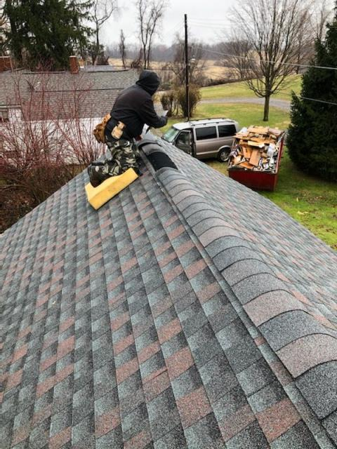 Gibsonia, PA - Finishing Up a GAF Williamsburg Slate Timberline HD Roofing Install