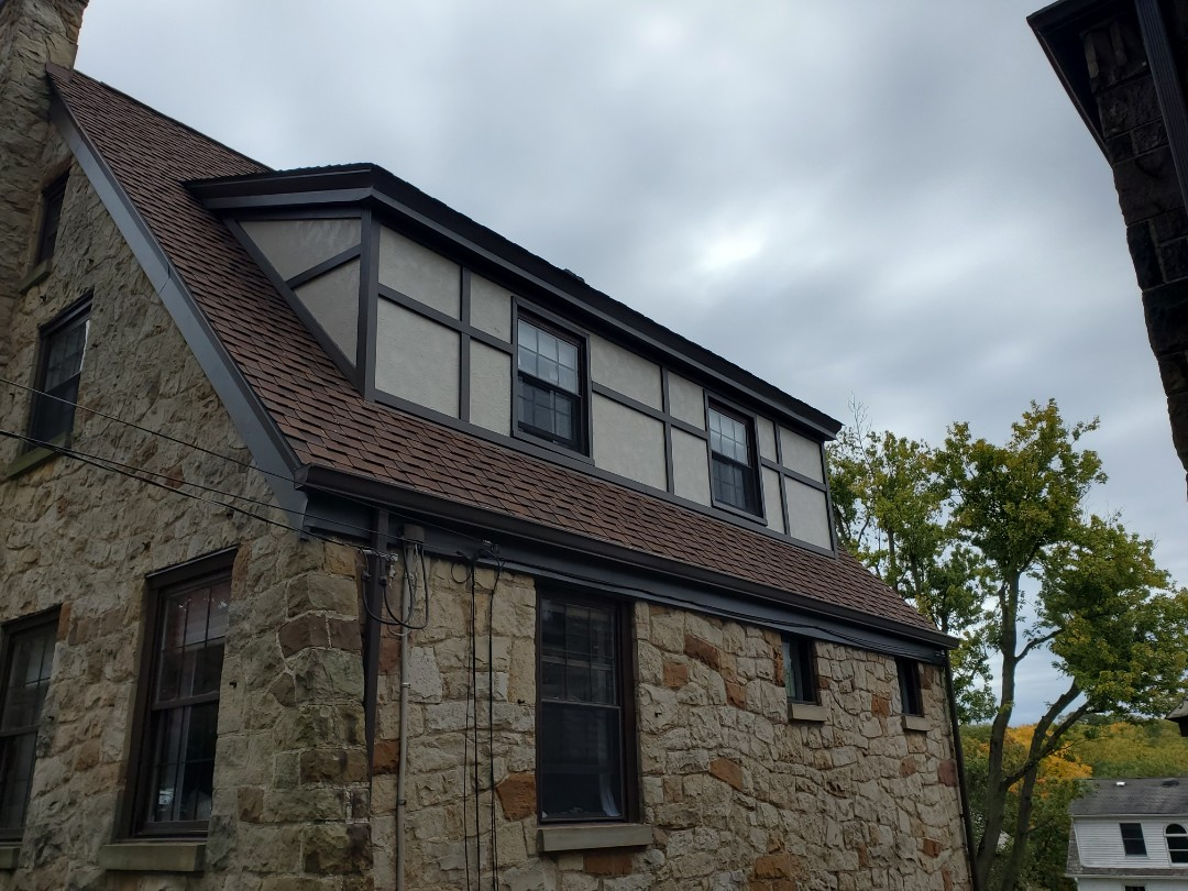 Pittsburgh, PA - James Hardie Stucco board and trim in Mt. Lebanon.