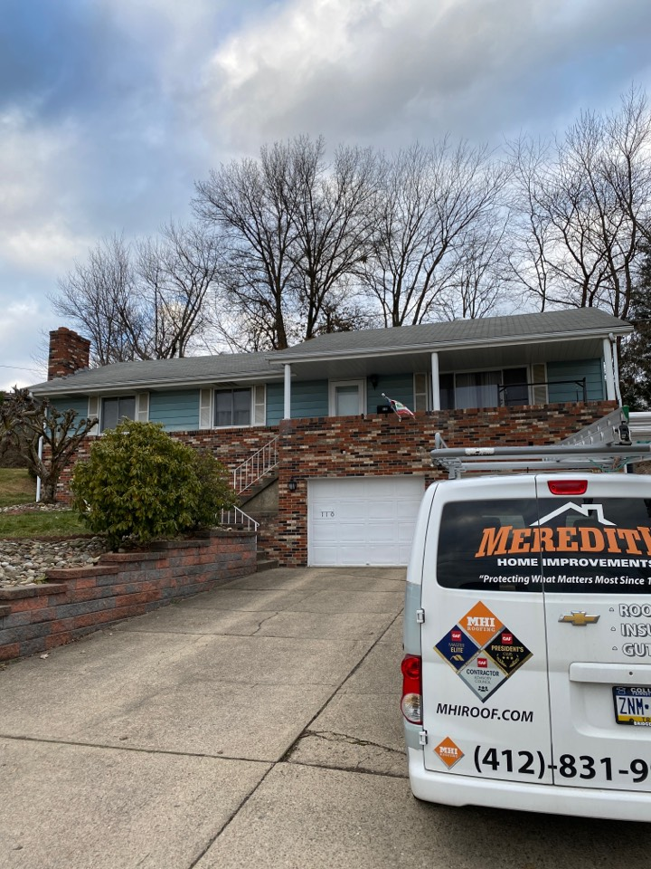 Irwin, PA - Inspecting a home for roof replacement in Irwin, Pa as a GAF Master Elite contractor.