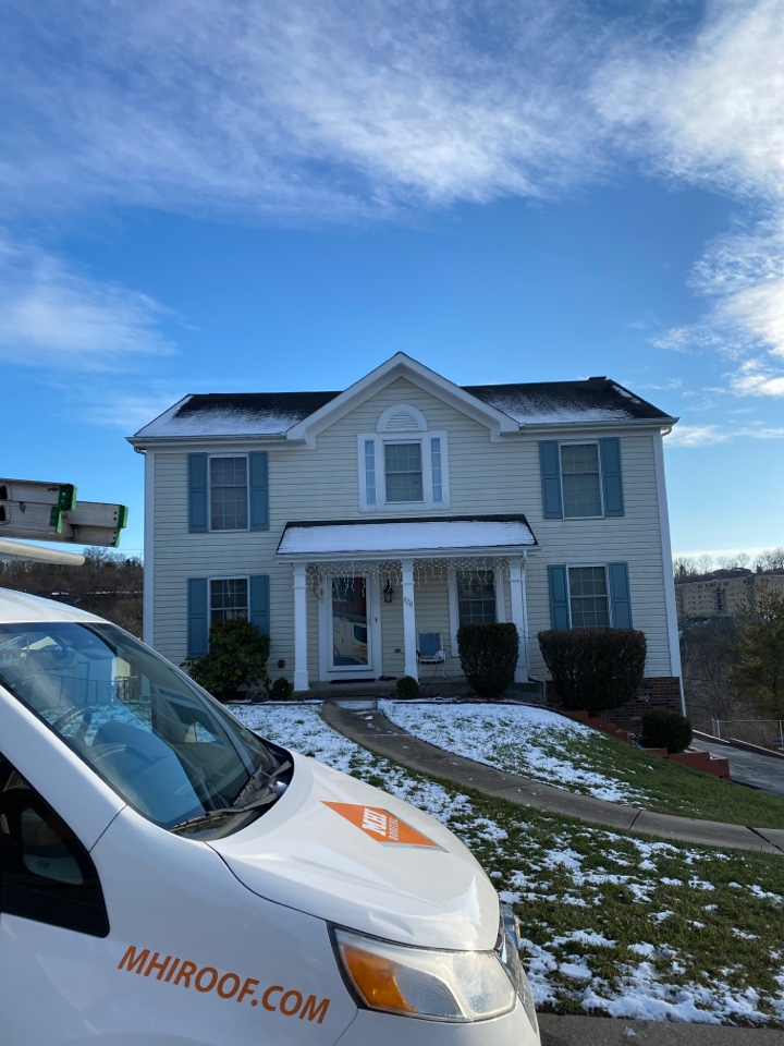 Pittsburgh, PA - Inspecting a home for GAF roof replacement as a Master Elite contractor in Pittsburgh Pa.