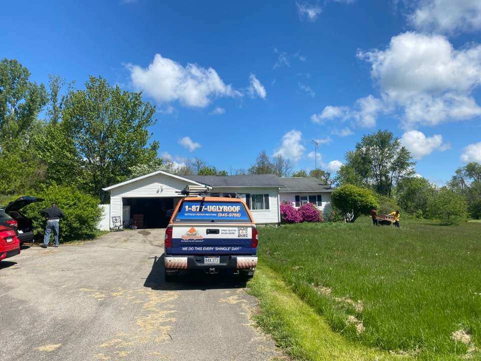McClellandtown, PA - Roof inspection for a roof replacement for a GAF timberline HDZ asphalt shingle roof replacement by the best master elite contractor near you