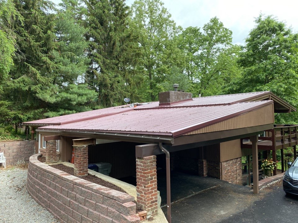 McMurray, PA - Inspecting a home for roof repair as a GAF Master Elite contractor. Offering skylight replacement as well with payment plan options.