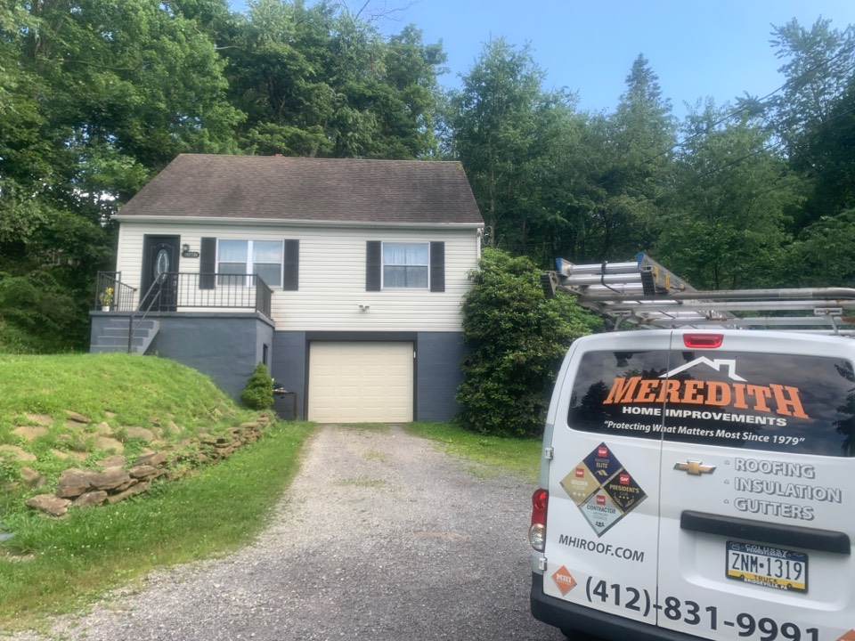 Gibsonia, PA - Roof appointment in Gibsonia. Always have a qualified roofer inspect for damage and correct ventilation which is what's wrong with this house. MHI roofing your master elite installer
