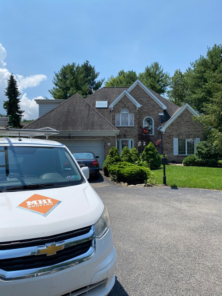 Bridgeville, PA - Inspecting a home for roof replacement I Bridgeville, Pa as a GAF Master Elite contractor.