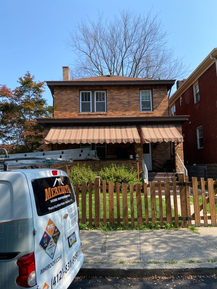 Pittsburgh, PA - Inspecting a home for roof replacement as a GAF Master Elite contract in Pittsburgh, Pa.