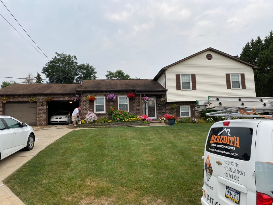 Monroeville, PA - Inspecting a home for roof replacement as a GAF Master Elite contractor in Monroeville, Pa.