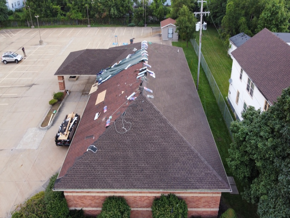 Cleveland, OH - Last day at the project. MHI gets the job done! Cleveland Ohio's Master Elite roofer!