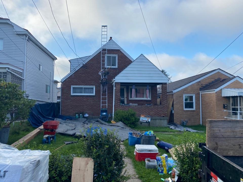 Carnegie, PA - Roofing job here in Carnegie