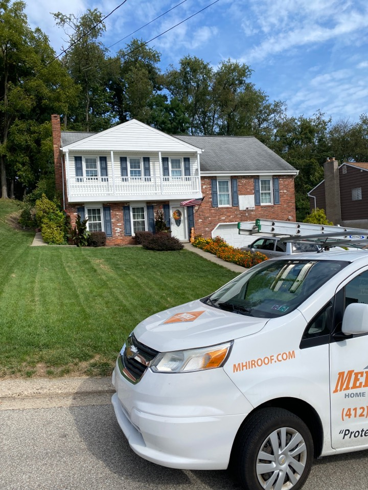Bethel Park, PA - Inspecting a home for roof replacement as a GAF Master Elite contractor in Bethel Park, Pa.