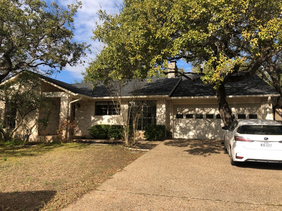 Austin, TX - New asphalt shingle roof and gutter. Replace all siding with hardie siding and paint house.