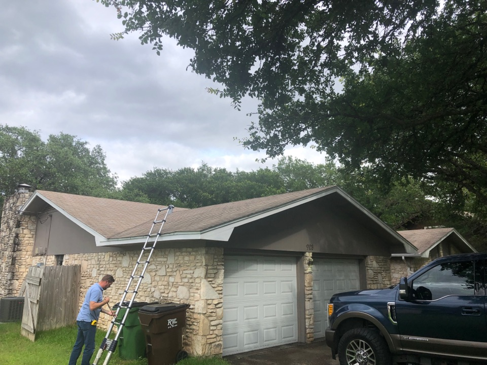 Round Rock, TX - Hail damage to roof in round rock. Need new gutters, new shingle and want to replace their back patio roof.