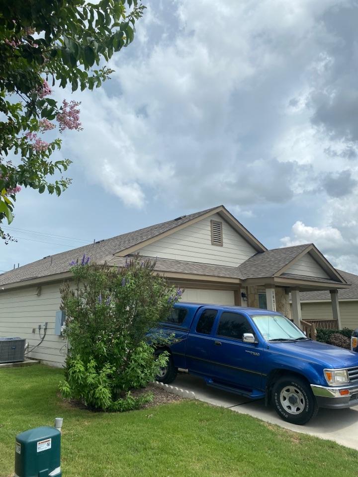 Pflugerville, TX - Potential roof hail damage repair claim