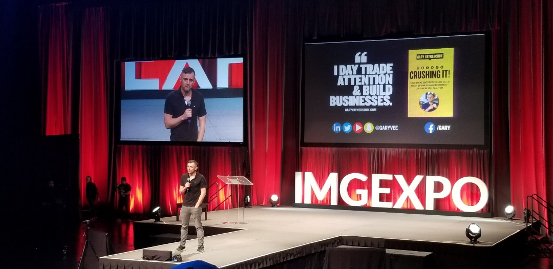 At IMG New Orleans listening to Gary Vaynerchuck speak about the most recent internet changes. Gary V. is absolutely the authority in anything online.