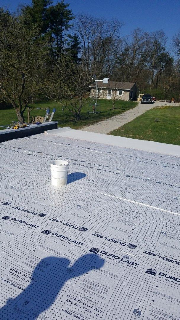 New Duro-last flat roof