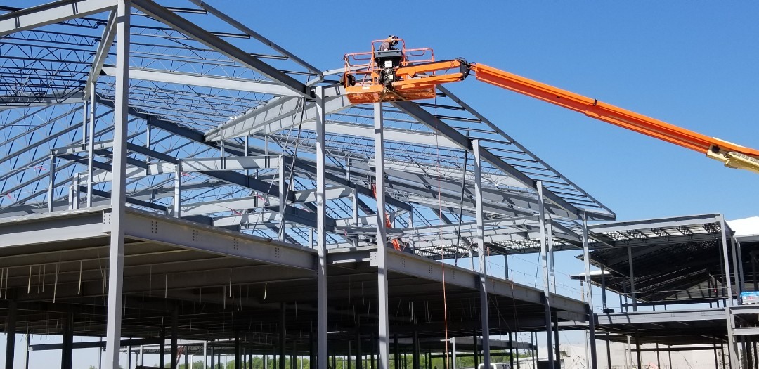 Marion, IN - We are seeing good progress at Columbia City  High School as we prepare to install a roof by Malarkey.